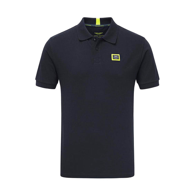 Aston Martin Racing Button Up Travel Polo - Men - Navy