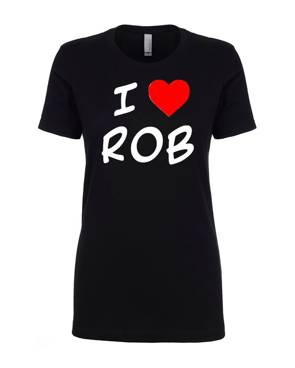 I Heart Rob Black T-shirt