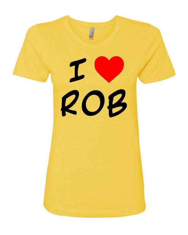 I Heart Rob Yellow T-shirt
