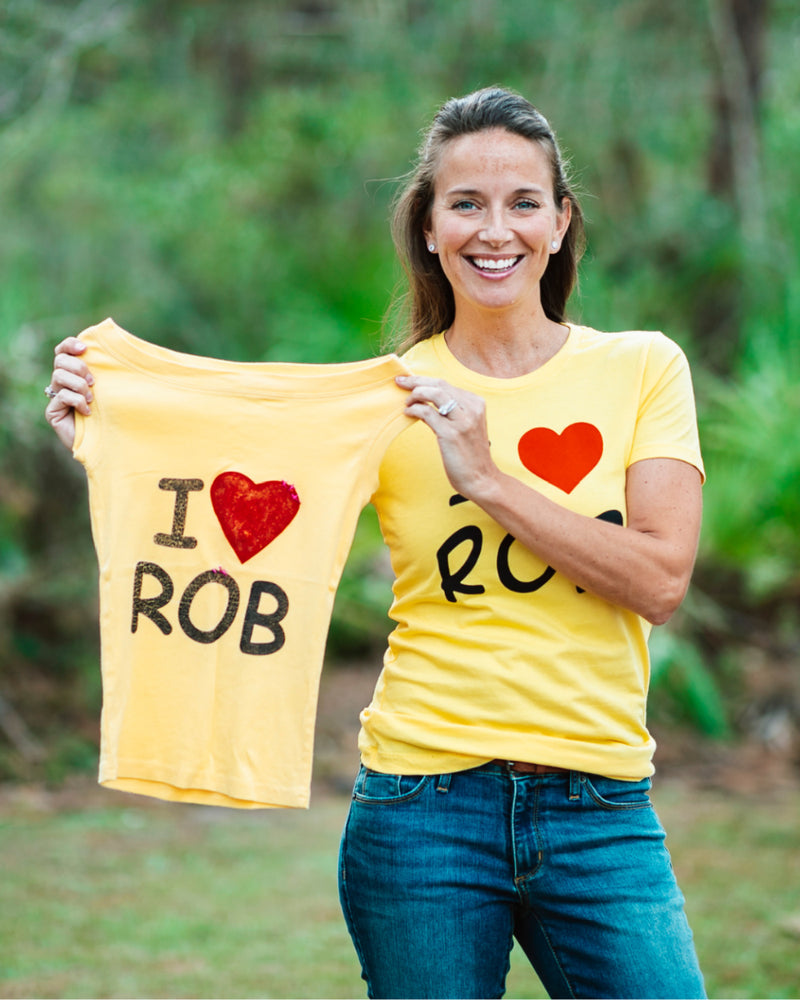 I Heart Rob T-Shirt - Yellow