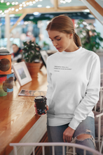 Load image into Gallery viewer, TF Quote Jumper | White