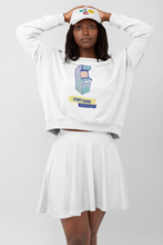 Load image into Gallery viewer, Retro 90's Arcade Jumper | White