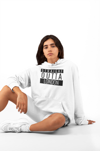 Straight Outta London Hoodie | White