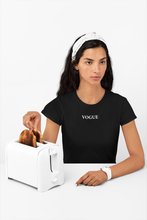 Load image into Gallery viewer, Vogue T-shirt | Black