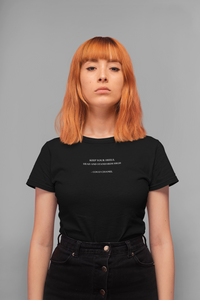 Coco Quote Standards T-Shirt | Black
