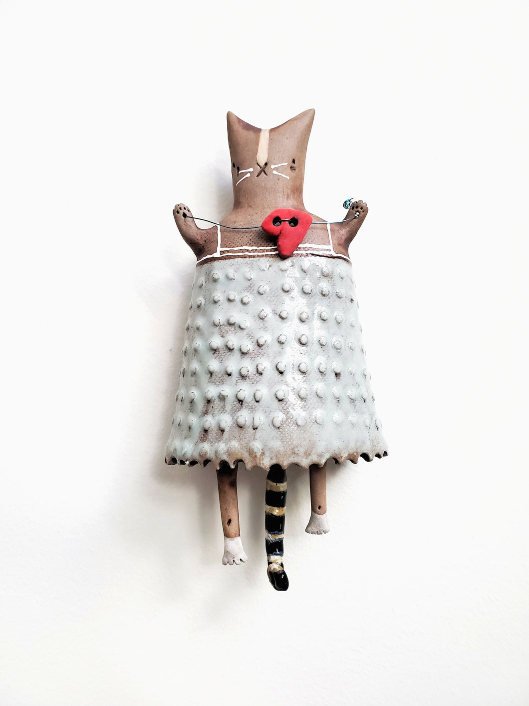 Kitty Heart Wall Doll