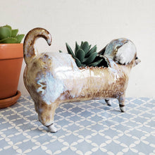 Load image into Gallery viewer, Yellow Dachshund Planter