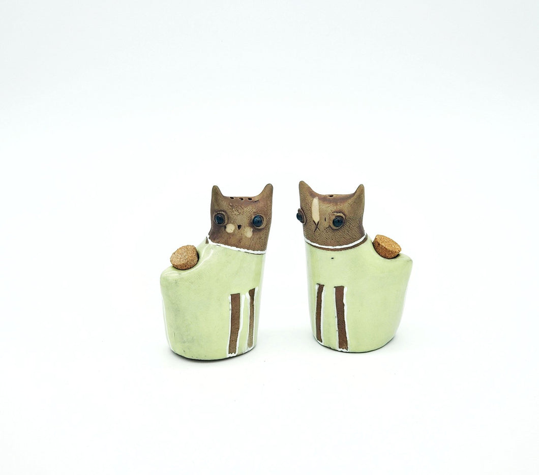 Kitty Kat Salt and Pepper Shakers