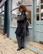 Load image into Gallery viewer, Open Shibori Wool Coat with Front Pockets