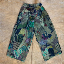 Load image into Gallery viewer, Cropped Camo Patchwork Wide-Leg Trousers