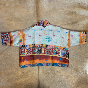 Reversible Silk Kantha Jacket with Pockets