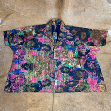 Load image into Gallery viewer, Oversized Quilted Printed Silk Jacket