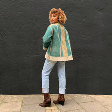 Load image into Gallery viewer, Pastel Kantha Jacket with Teal Contrast