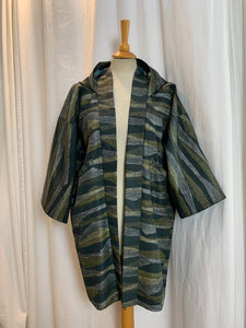 Hooded Haori Kimono with Pockets