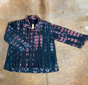 Quilted, Shibori-Dyed, Silk, Swing Jacket