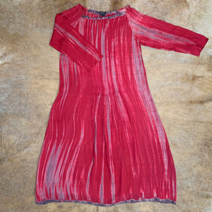 Silk Chiffon Shibori Pintuck Dress