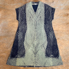 Load image into Gallery viewer, Shibori Dyed V-Neck Cotton Dress