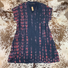 Load image into Gallery viewer, Cap Sleeve Shibori A-Line Dress