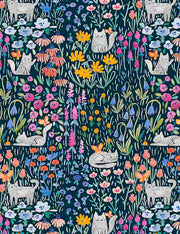 Dear Stella Fabrics KITTY GARDEN
