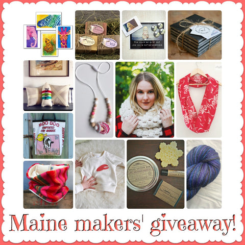 #makeMEsmile Maine maker giveaway for Valentines February 9 at 9AM round robin giveaway from BabyHaus Style Hungry Designs, KiwiPop Studio, One Woman Studio, SoulShine Soap Co, Cobalt Sky Studio, Tricia Griffiths Art, Gentle Meadow Goat Farm, A&E Stoneworks, Adventures of Claudia