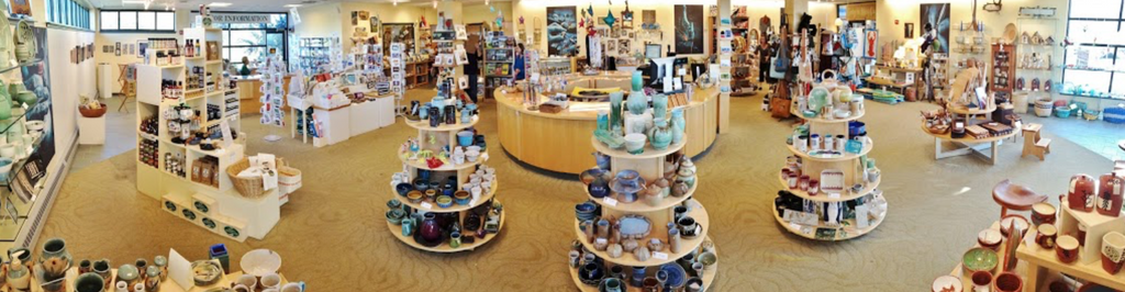 Center for Maine craft panorama pic by Whitney Gill of Maine Crafts Association.