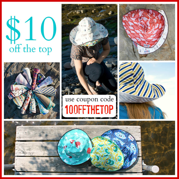 womens reversible sun hat sale coupon code at worthygoods