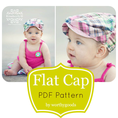 Sewing Pattern Kids Newsboy Hat