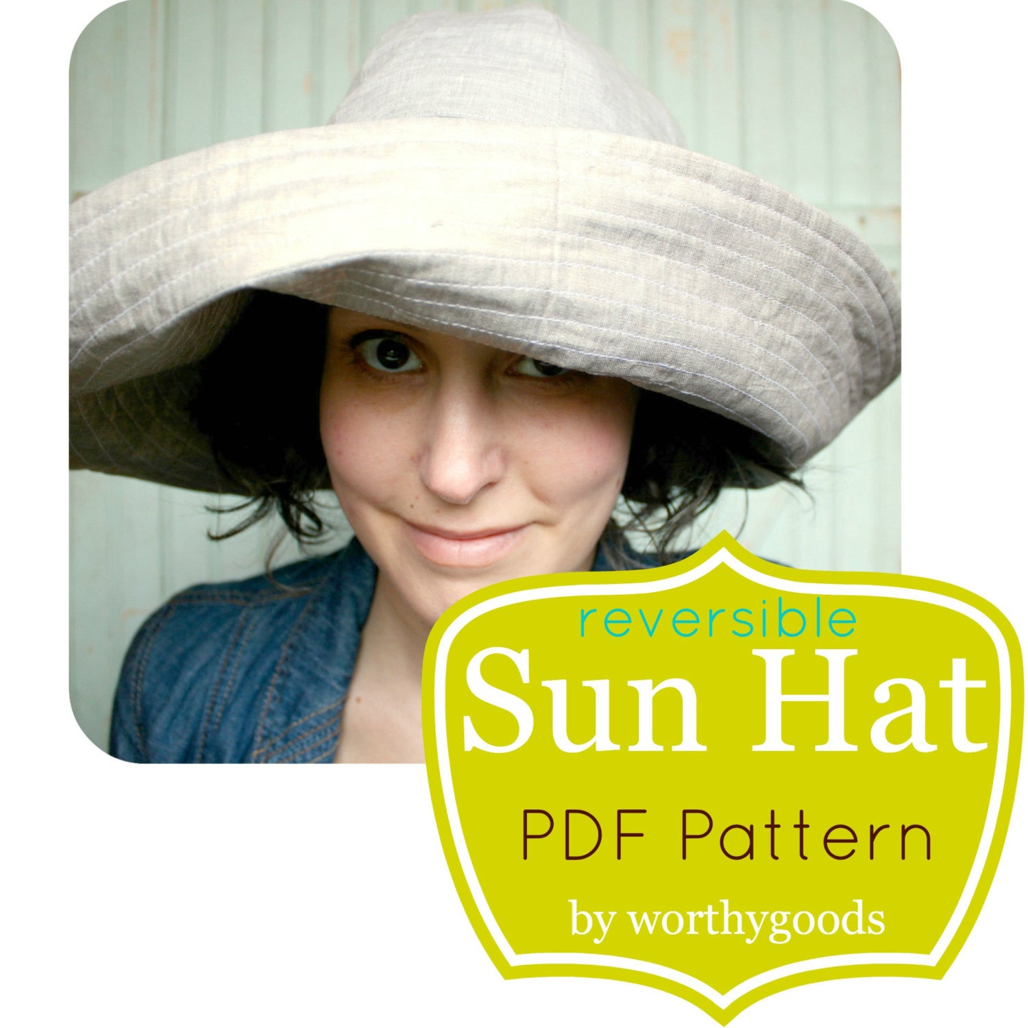 dd60ee7e2 Quick Sunhat DIY Sewing Project - worthygoods