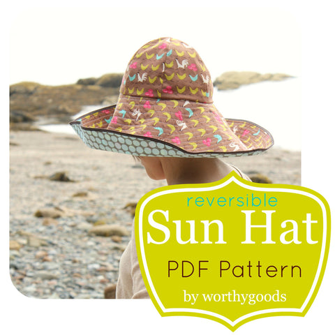 Sewing Pattern Sun Hat PDF