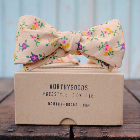 Vintage bow ties, handmade in Maine, by worthygoods.