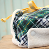 Green tartan Little Trapper hat for baby boy & girl by New England brand, worthygoods. Handmade in Maine.