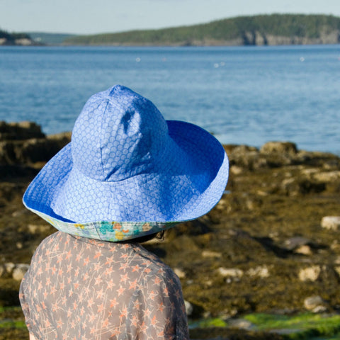 Over the Top Sun Hat Women's Reversible Cotton