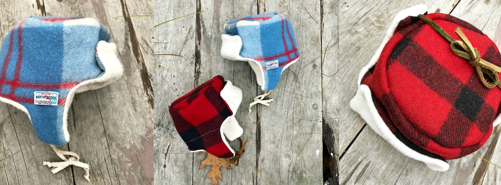 Maine Little Trapper hats for babies and kids handmade by worthygoods.