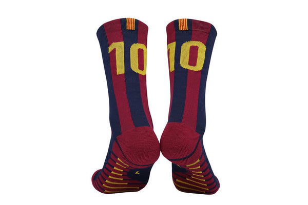 "Soccer Socks for Adult Training ""Messi 10"" Classic Medium/Short Tube"