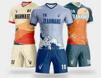 Football suit personalized full body pattern high end custom DIY soccer jersey YB133 style design team uniform printing