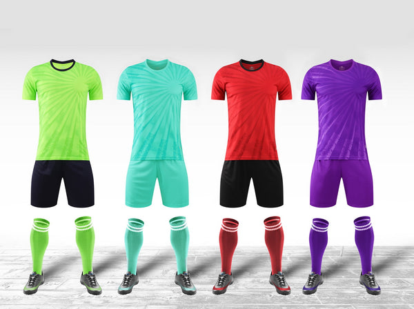 Wholesale soccer jerseys YL9208 custom soccer uniforms sets team football kits for men and kids