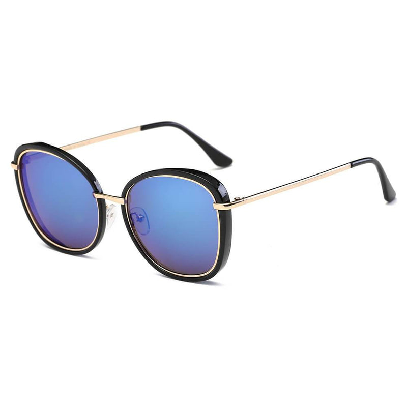 BROOKVILLE | S2003 - Women Round Cat Eye Oversize Sunglasses