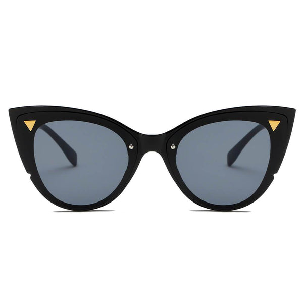 GRENOBLE | S1098 - Women Retro Fashion Round Cat Eye Sunglasses