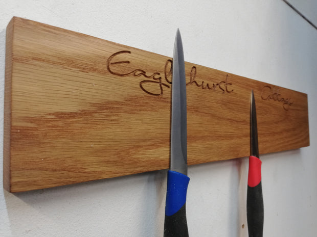 Oak Magnetic Kitchen Knife Rack