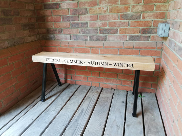 Industrial Oak Bench - Outdoor