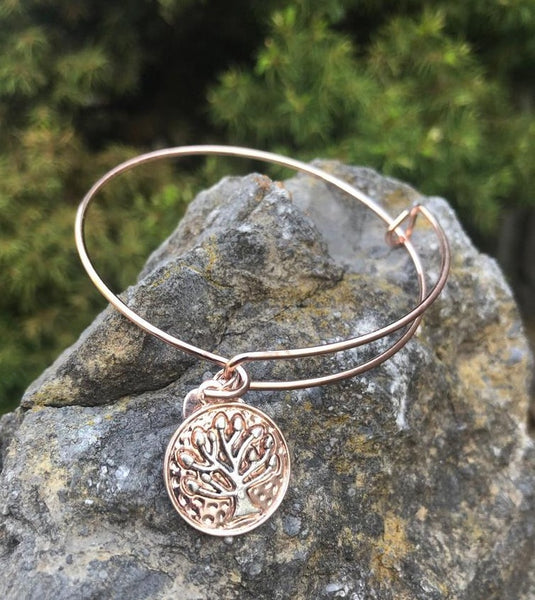 Tree of Life Bracelet - Rose Gold Color