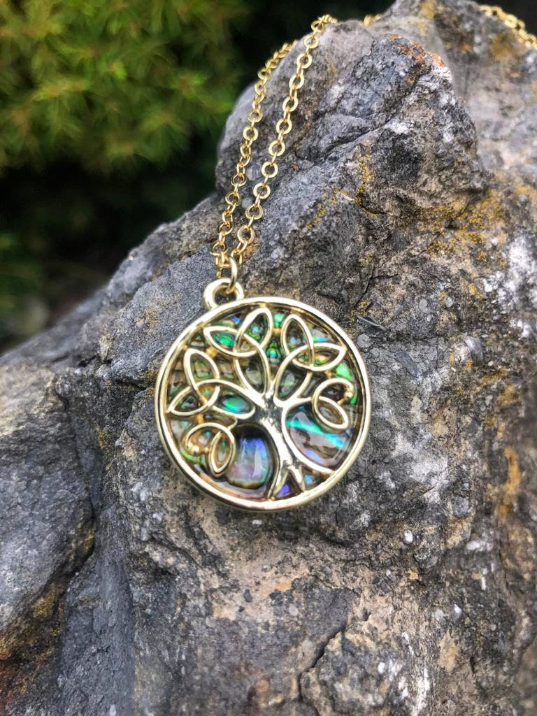 Iridescent Tree of Life Necklace