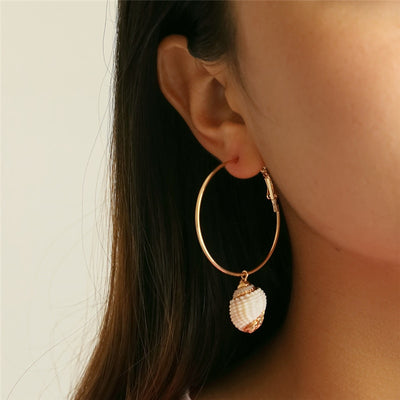 Boucle d'Oreille Coquillage clair