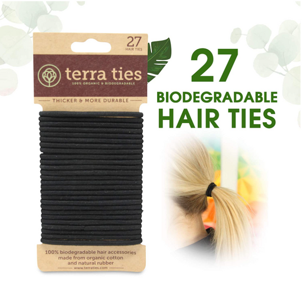 Eco Friendly Biodegradable Elastic Hair Ties - 27 pcs