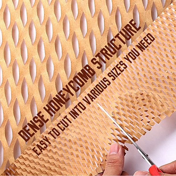 Eco Friendly Paper Honeycomb Cushioning Wrap Perforated Packing Roll