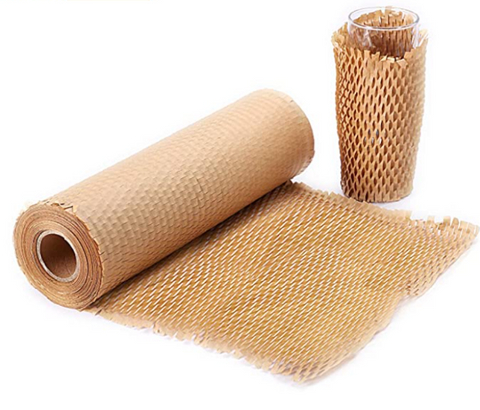 Eco Friendly Kraft Paper Honeycomb Cushioning Bubble Wrap Perforated Packing Roll