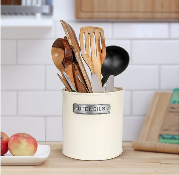 Large Metal Kitchen Utensils Holder