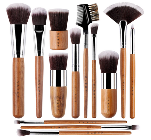 Eco-Friendly 13-Pcs Bamboo Makeup Brushes Professional Set