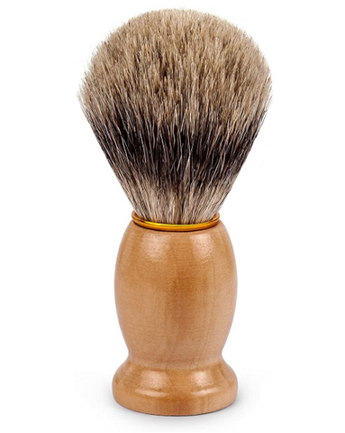 Eco Friendly Pure Badger Hair Shaving Brush with Real Wood Base for Wet Shave
