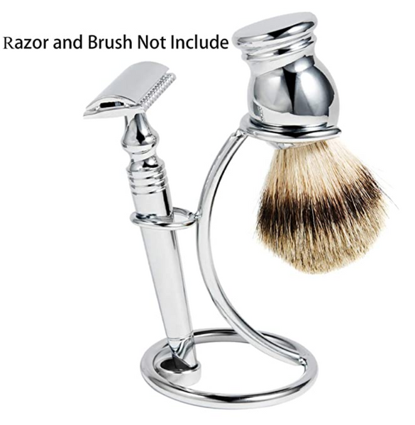 Eco-Friendly Metal Shaving Razor and Brush Stand Universal Holder